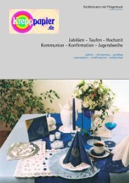 Taufen - Hochzeit Kommunion - Konfirmation - Krepppapier