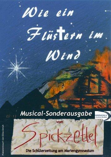 Musical-Sonderausgabe - Mariengymnasium