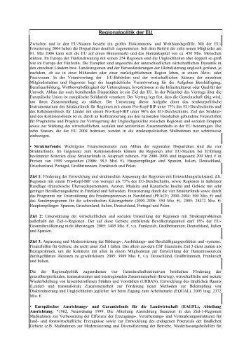 Regionalpolitik der EU - Mariengymnasium