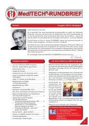Vorwort Ausgabe 4/2010 Jahrgang 8 - MediTECH Electronic GmbH