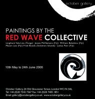 Download eCatalogue of the Red Wave Collective ... - October Gallery