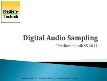 Audio-Abtastung - mtech@uni