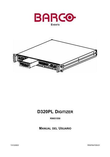 D320PL DIGITIZER - Barco