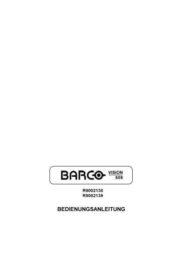 BEDIENUNGSANLEITUNG - Barco