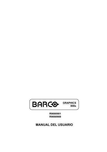 MANUAL DEL USUARIO - Barco