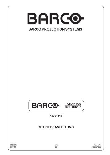BARCO PROJECTION SYSTEMS