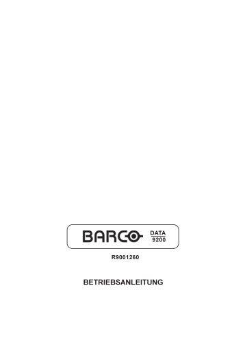BETRIEBSANLEITUNG - Barco
