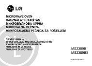 LG MS2389B(S) mikrohullámú sütő