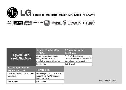 Típus: HT503TH(HT503TH-DH, SH53TH-S/C/W) Egyedülálló ...