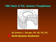 P&H Rock & Pile Anchors Foundations