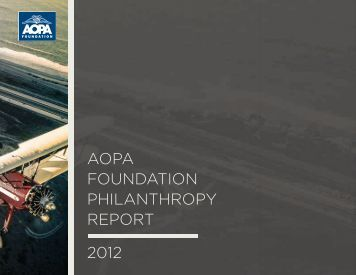 Philanthropy Report - Aircraft Owners and Pilots Association