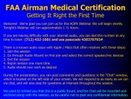 FAA Airman Medical Certification - Aircraft Owners and Pilots ...