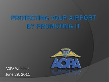 Airports and the AOPA Airport Support Network