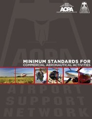 Minimum Standards for Commercial Aeronautical Activities