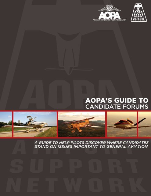 Candidate Forums - Aircraft Owners and Pilots Association