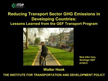 Walter Hook, Institute of Transportation and Development Policy