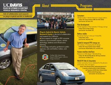 About Programs - Institute of Transportation Studies - UC Davis