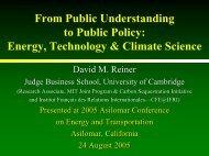 David Reiner, Cambridge University - Institute of Transportation ...
