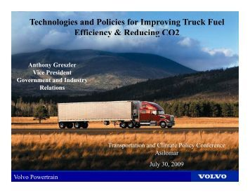 Technologies and Policies to Improve Truck Fuel Efficiency