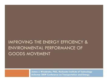 improving the energy efficiency & environmental performance of ...