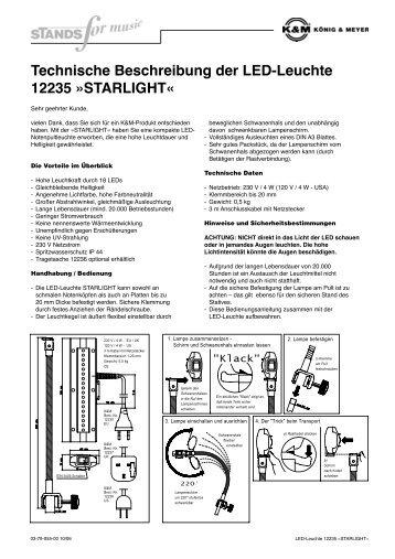 Technische Beschreibung der LED-Leuchte 12235 ... - Daten