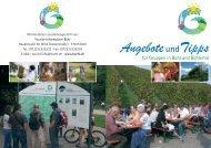 Angebote und Tipps für Gruppen - Stadt Bühl