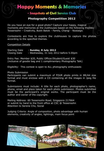 Photography Competition 2012 - Civil Service Club