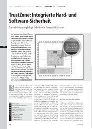 TrustZone: Integrierte Hard- und Software-Sicherheit
