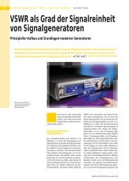 VSWR als Grad der Signalreinheit von Signalgeneratoren