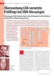Überwachung CAN-vernetzte Prüflinge bei EMV-Messungen