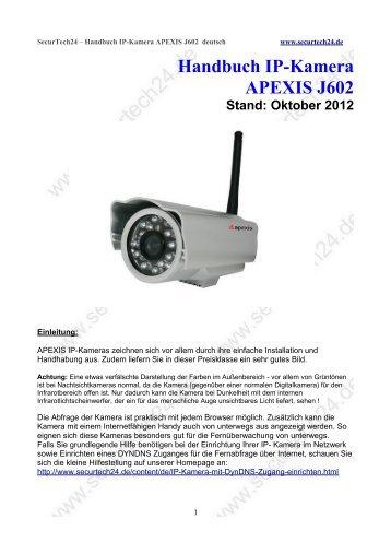 Handbuch IP-Kamera APEXIS J602