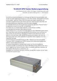 TZ-AVL05 GPS Tracker Bedienungsanleitung