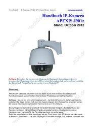 Handbuch IP-Kamera APEXIS J901z Stand: Oktober 2012
