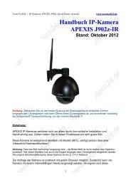 Handbuch IP-Kamera APEXIS J902z-IR Stand: Oktober 2012