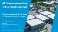 HP Technology Consulting Critical Facilities Services
