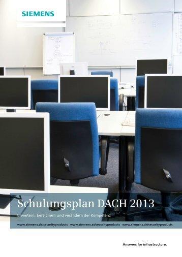 Broschüre Schulungsplan 2013 - Security Products Deutschland