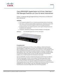 Cisco SRW2008P 8-port Gigabit Switch: WebView/PoE (German)