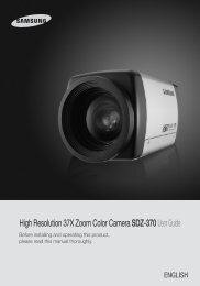 High Resolution 37X Zoom Color Camera SDZ-370User Guide
