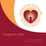 Lebensschule Westerwald Programm 2014