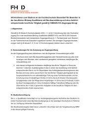 Zugangsprüfung Info [PDF] - Fachhochschule Düsseldorf