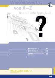Wissenswertes von A – Z - ELEKTRA Tailfingen