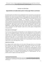 Handout zum Workshop Eigenaktivität von Studierenden (auch) in ...