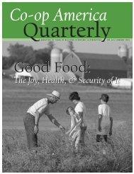 Co-op America Quarterly No. 60: Good Food - Green America