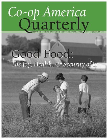 Co-op America Quarterly No. 60: Good Food - Green America