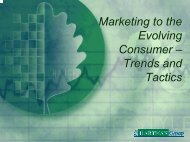Evolving Trends and Implications - Green America