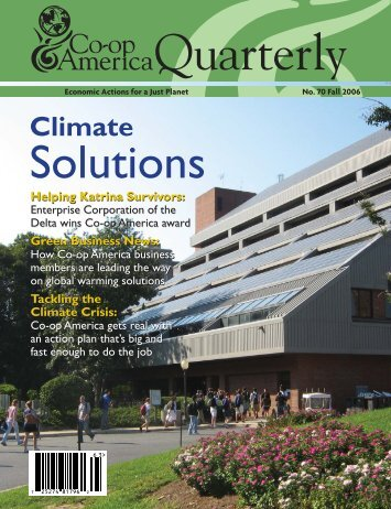 Climate Solutions - Green America