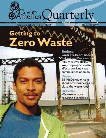Getting to Zero Waste - Green America