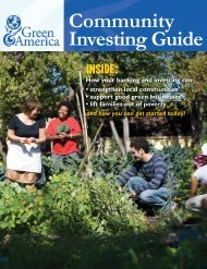 Community Investing Guide - Green America