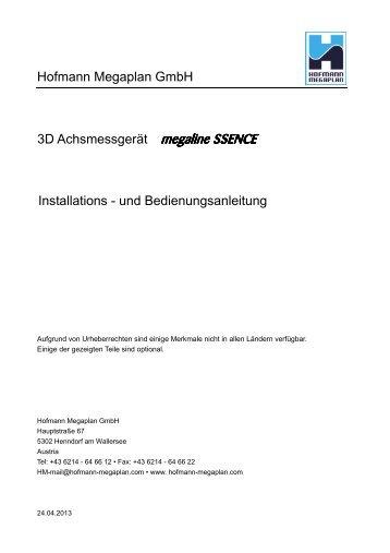 Manual Megaline SSENCE - deutsch - Hofmann Megaplan