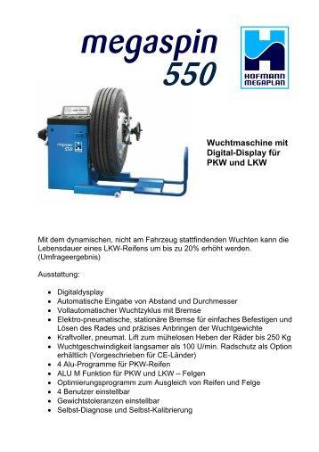 Wuchtmaschine mit Digital-Display für PKW und LKW - Hofmann ...
